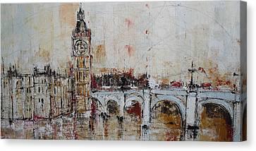Big Ben Canvas Print - Vintage London by Irina Rumyantseva