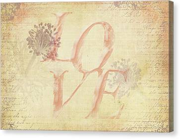 Canvas Print featuring the photograph Vintage Love by Caitlyn Grasso