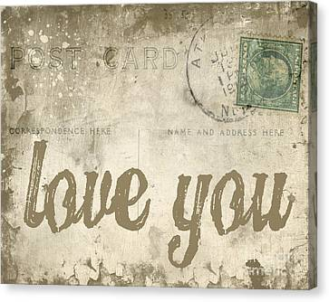 Announcement Canvas Print - Vintage Love Letters by Edward Fielding