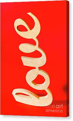 Cut-outs Canvas Print - Vintage Love Sign by Jorgo Photography - Wall Art Gallery