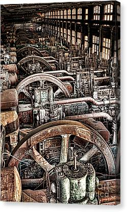 Vintage Machinery Canvas Print by Olivier Le Queinec