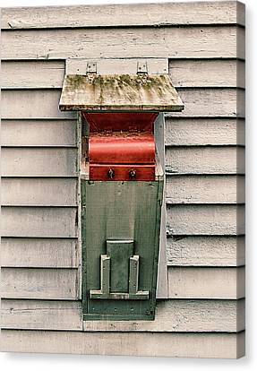 Canvas Print featuring the photograph Vintage Mailbox by Gary Slawsky