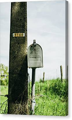Vintage Mailbox Canvas Print by Pati Photography