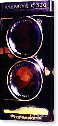 Vintage Mamiya Camera Canvas Print by Wingsdomain Art and Photography