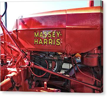 Vintage Massey Harris Tractor Canvas Print by Ann Powell