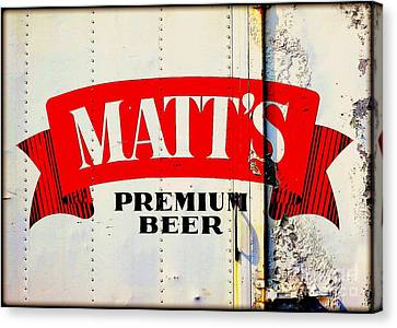 Vintage Matt's Premium Beer Sign Canvas Print