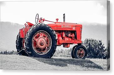 Vintage Mccormick Farmall Tractor Canvas Print