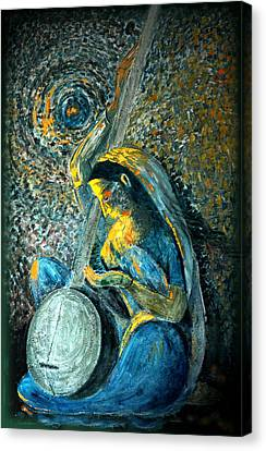 Vintage - Meera - Singing For Krishna Canvas Print by Harsh Malik