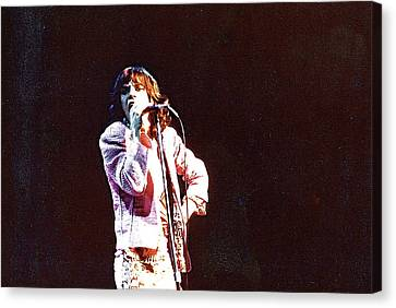 Vintage Mick 1975 Canvas Print by Claire McGee