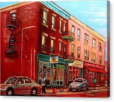 Vintage Montreal Canvas Print by Carole Spandau