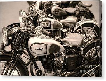 Vintage Motorcycles Canvas Print by Ari Salmela