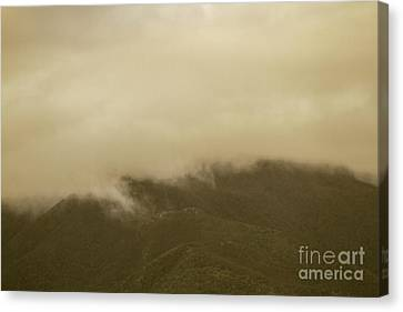 Vintage Mountains Covered By Cloud Canvas Print by Jorgo Photography - Wall Art Gallery