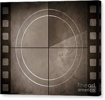 Vintage Movie Background With Film Strip Boarder Canvas Print by Jorgo Photography - Wall Art Gallery