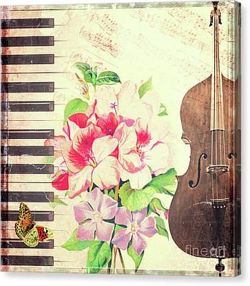 Vintage Music Canvas Print