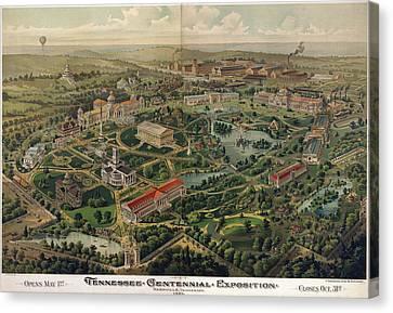 Vintage Nashville Centennial Park Map - 1897 Canvas Print by CartographyAssociates