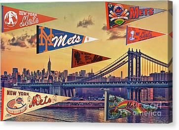 Vintage New York Mets Canvas Print by Steven Parker