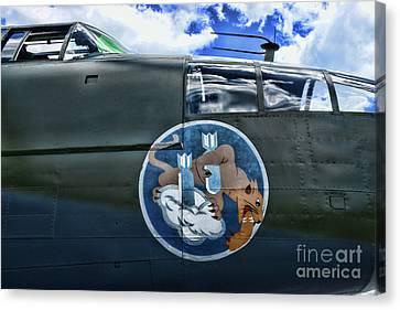 Vintage Nose Art B-25j Mitchell Canvas Print