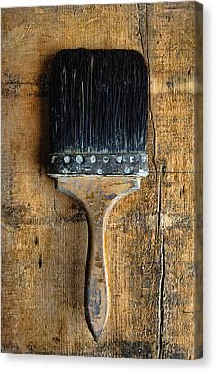 Vintage Paint Brush Canvas Print by Jill Battaglia