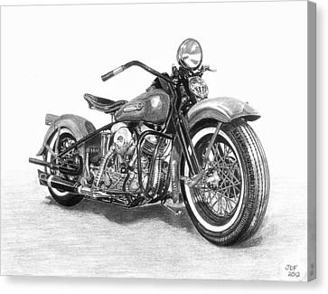 Old Canvas Print - Vintage Panhead by Francois Michaud