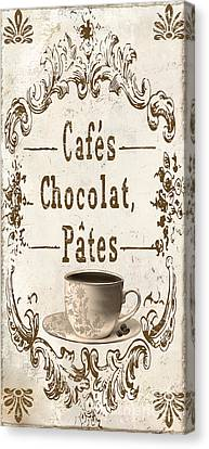 Vintage Paris Cafe Sign Canvas Print by Mindy Sommers