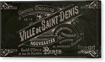 Vintage Paris Sign Canvas Print by Mindy Sommers