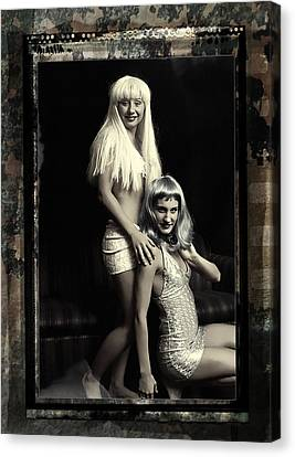 Vintage Party Girls Canvas Print by Clayton Bruster