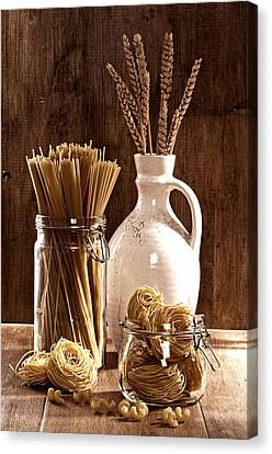 Meal Canvas Print - Vintage Pasta  by Amanda Elwell