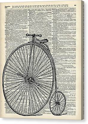 Vintage Penny Farthing Bicycle Canvas Print