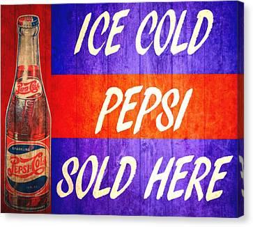 Vintage Pepsi Cola Barn Door Canvas Print