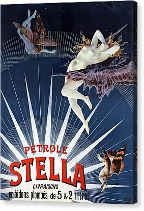 Vintage Petrole Stella Poster Canvas Print by Henri Boulanger