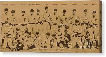 Vintage Philadelphia Phillies Baseball Card  Canvas Print by American School
