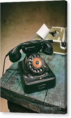 Vintage Phone Canvas Print by Carlos Caetano