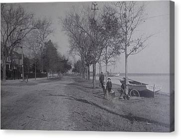 Vintage Photograph 1902 Front Street New Bern Nc Canvas Print by Virginia Coyle