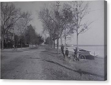 Vintage Photograph 1902 Front Street New Bern Nc Canvas Print