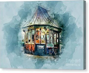 Summer Light Canvas Print - Vintage Pier Shop by Ian Mitchell