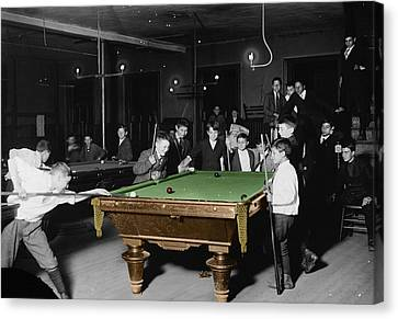 Vintage Pool Hall Canvas Print