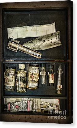 Law Enforcement Canvas Print - Vintage Post Mortem Fingerprint Kit by Paul Ward