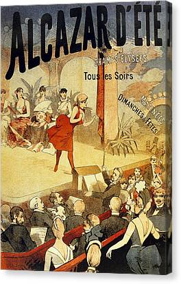 Vintage Poster For Cabaret Alcazar Canvas Print by French School