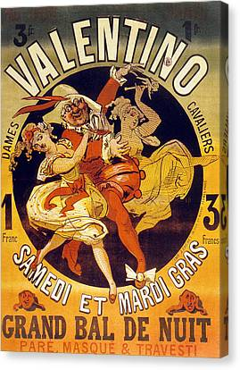 Vintage Poster For Cabaret Valentino  Canvas Print by Jules Cheret