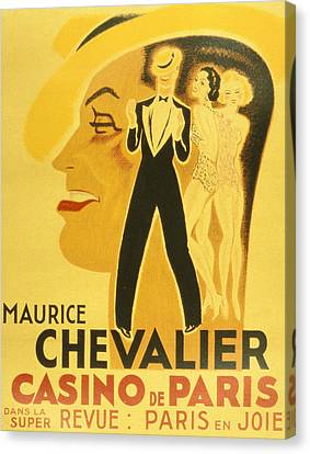 Vintage Poster Canvas Print by French School