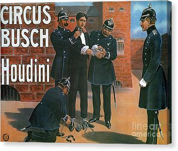 Policeman Canvas Print - Vintage Poster Showing Houdini Prior To An Escape From A German Prison, 1907 by German School