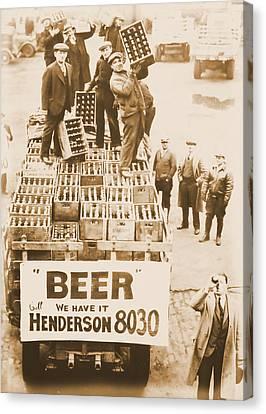 Vintage Prohibition Image Canvas Print by Dan Sproul