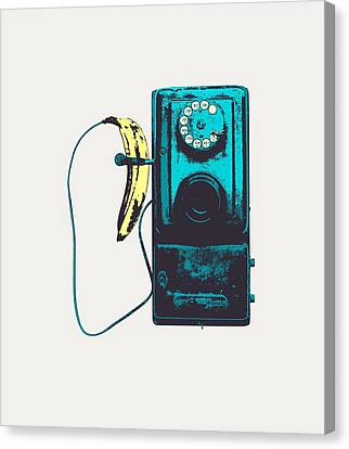 Vintage Public Telephone Canvas Print by Illustratorial Pulse