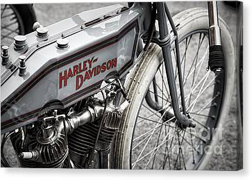 Vintage Racing Harley Canvas Print