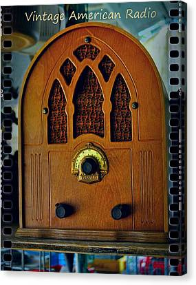 Vintage Cathedral Radio Canvas Print by ARTography by Pamela Smale Williams