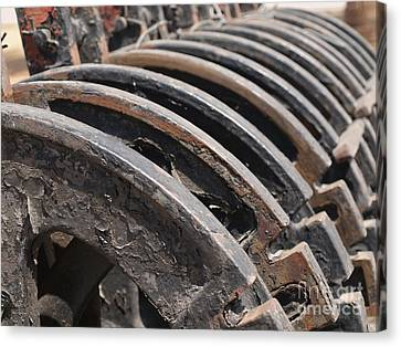 Vintage Railroad Switches Canvas Print by Yali Shi