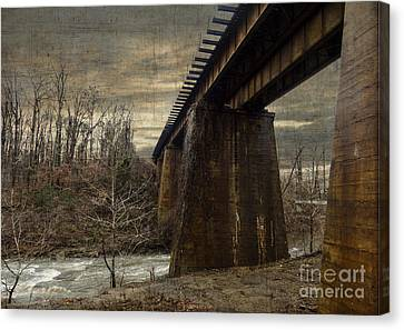 Vintage Railroad Trestle Canvas Print