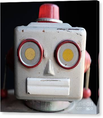 Vintage Robot 1 Dt Canvas Print by Edward Fielding