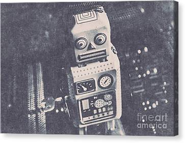 Vintage Robot Toy Canvas Print by Jorgo Photography - Wall Art Gallery