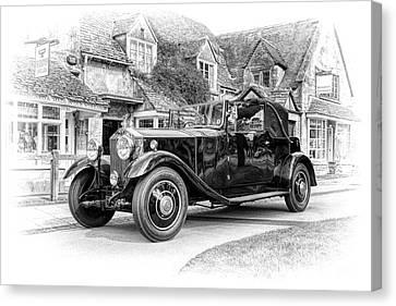 Vintage Rolls Royce  Canvas Print by Tim Gainey